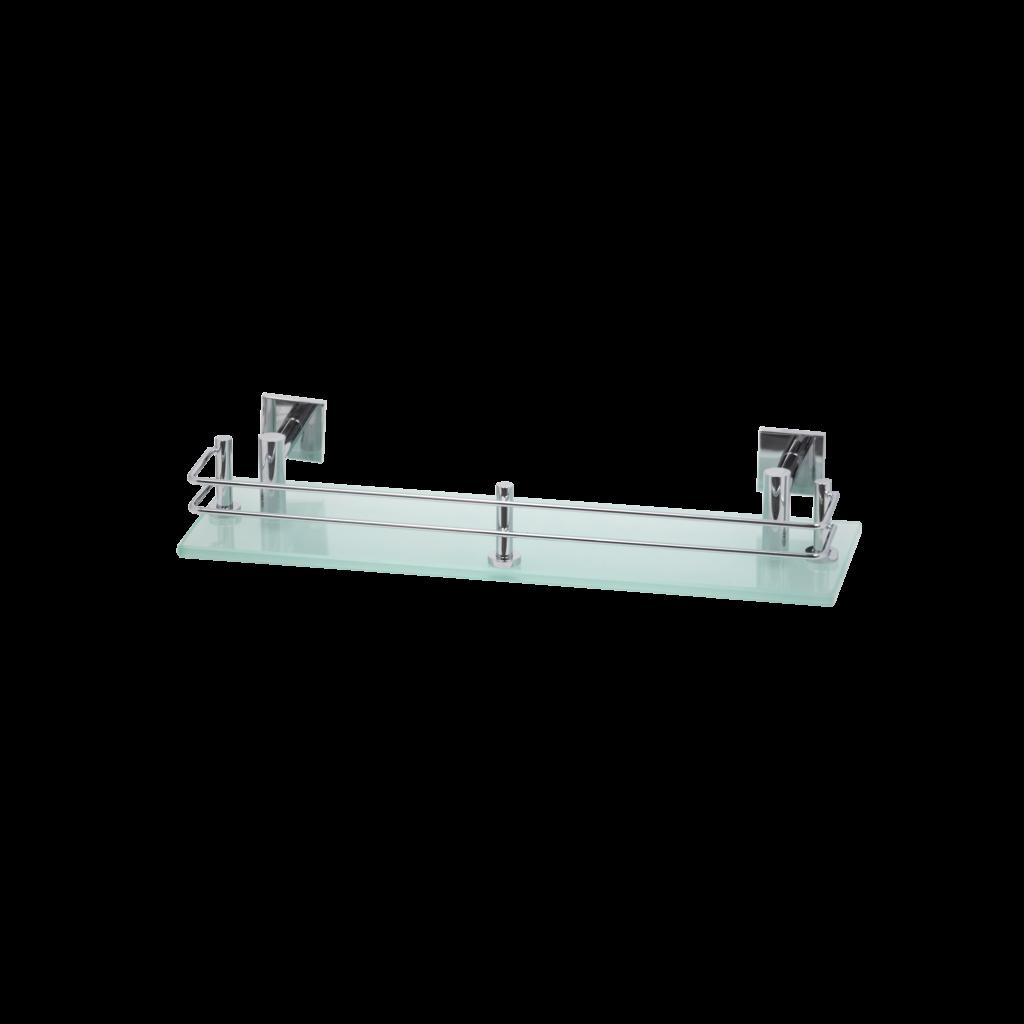 T704R1 mensola da bagno in vetro satinato con ringhiera collezione trend mirella tanzi