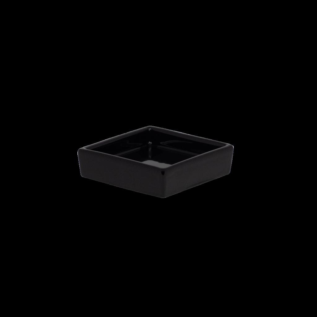 porta sapone in ceramica colore nero