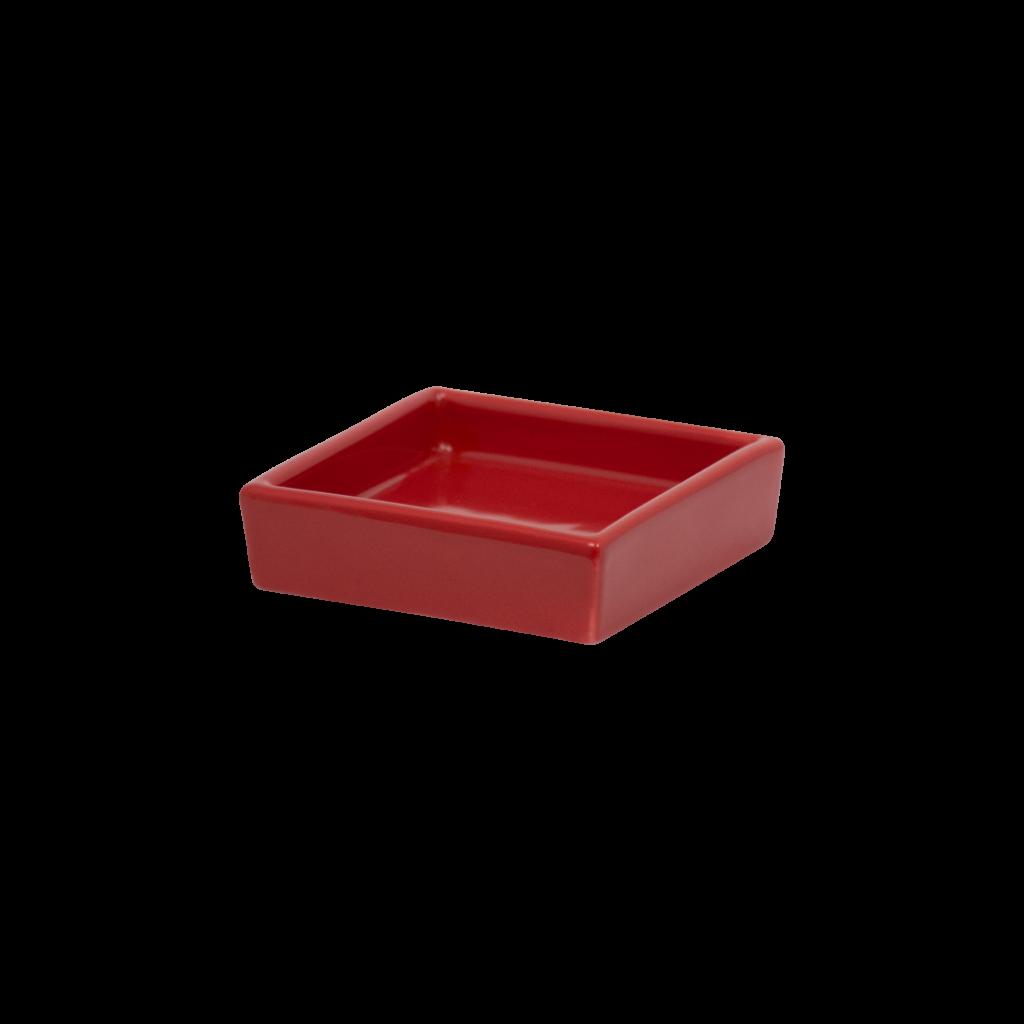 porta sapone in ceramica rosso