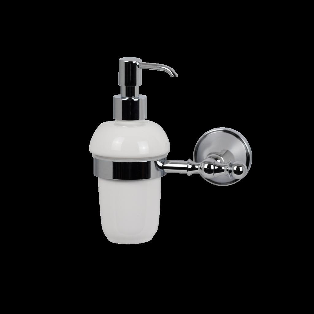 Dispenser sapone in ceramica e cromo mirella tanzi