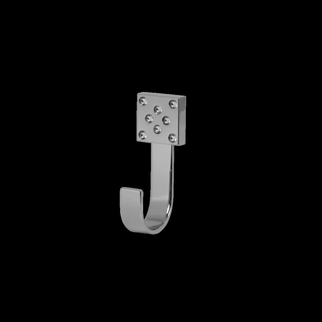 Flexo fx362 appendiabito scopino in cromo con cristalli swarovski di mirella tanzi