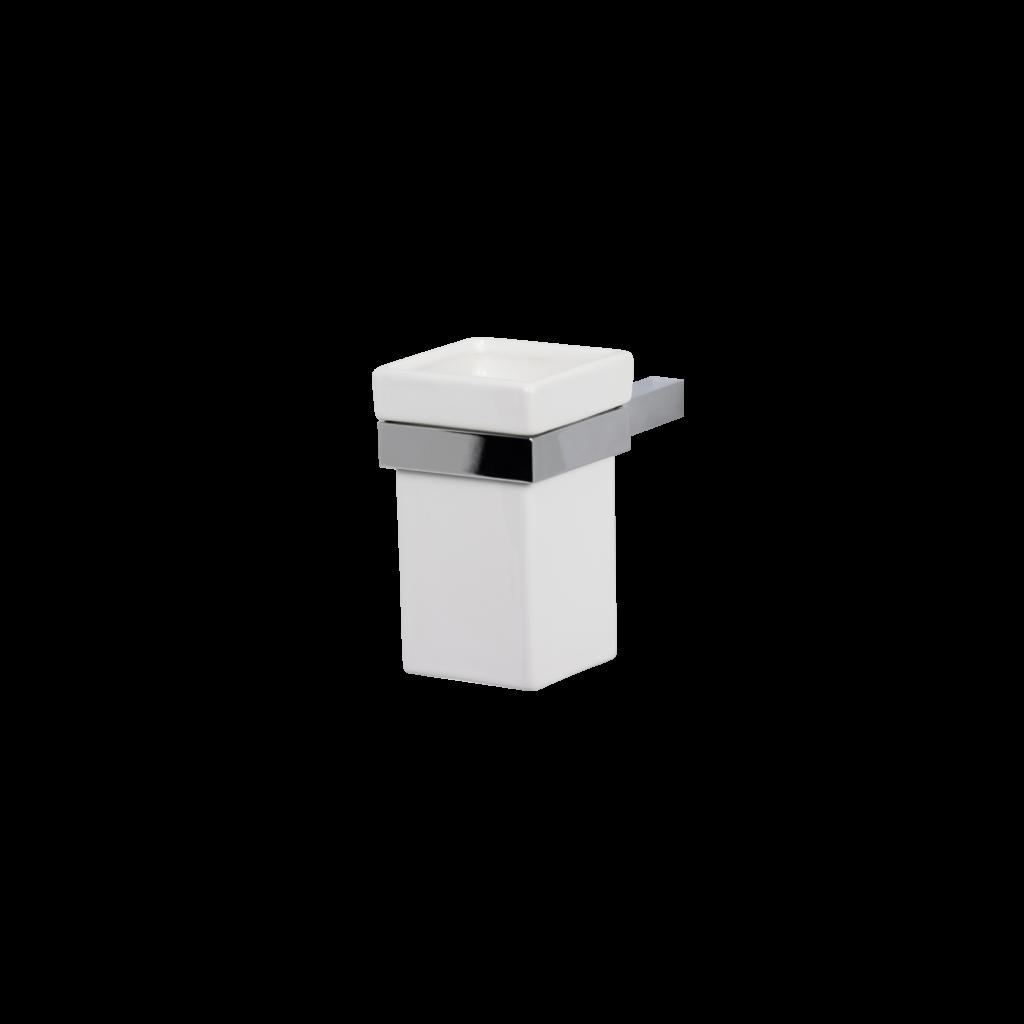 Porta spazzolini bagno in ceramica colore bianco di mirella tanzi