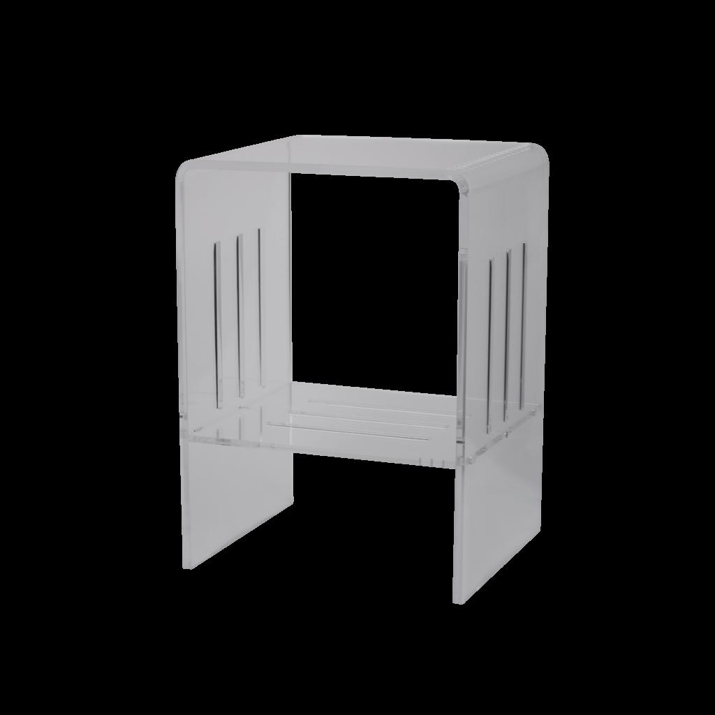 PZ9731T Sgabello in plexiglass trasparente