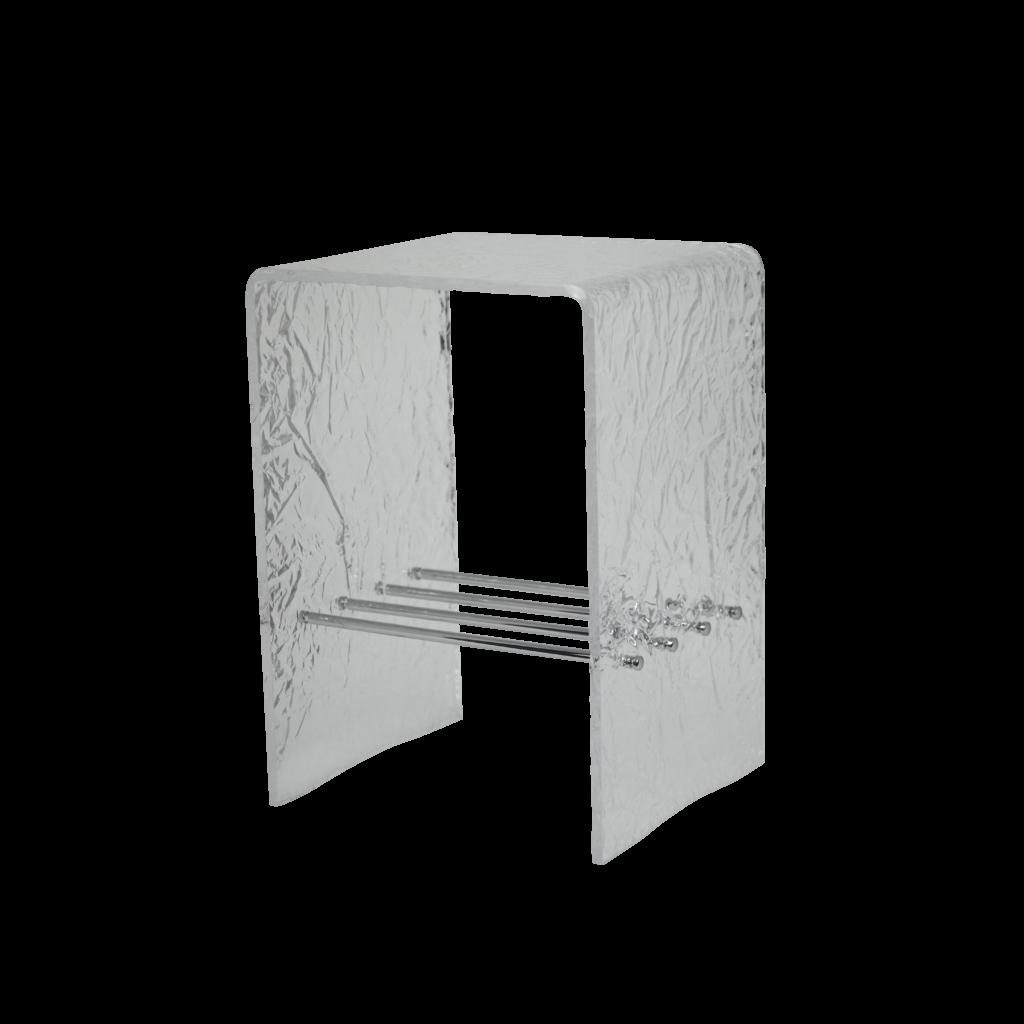 bathroom stool PX9735 Sgabello in plexiglass ghiacciato