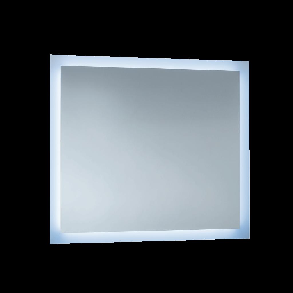 S5645 Specchio filo lucido con fascia satinata e illuminazione led
